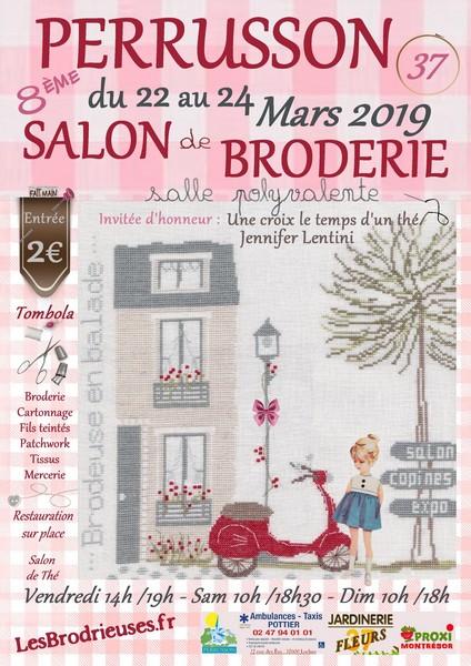 8ème Salon de la Broderie annoncé sur l'Agenda du Fil - agendadufil.fr