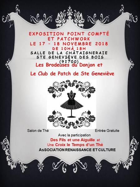Exposition Point Compté et Patchwork annoncé sur l'Agenda du Fil - agendadufil.fr