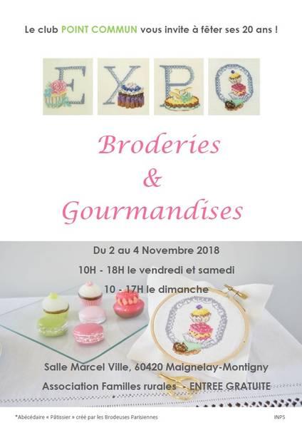 Broderies et Gourmandises annoncé sur l'Agenda du Fil - agendadufil.fr