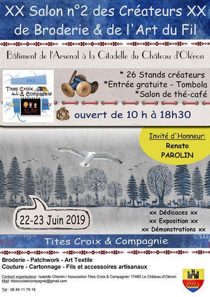 Salon des Créateurs de Broderie & de l'Art du Fil annoncé sur l'Agenda du Fil - agendadufil.fr