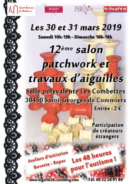 Salon Patchwork et travaux d'aiguilles annoncé sur l'Agenda du Fil - agendadufil.fr