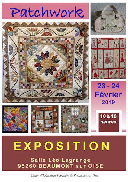 Exposition de patchwork et broderies annoncé sur l'Agenda du Fil - agendadufil.fr