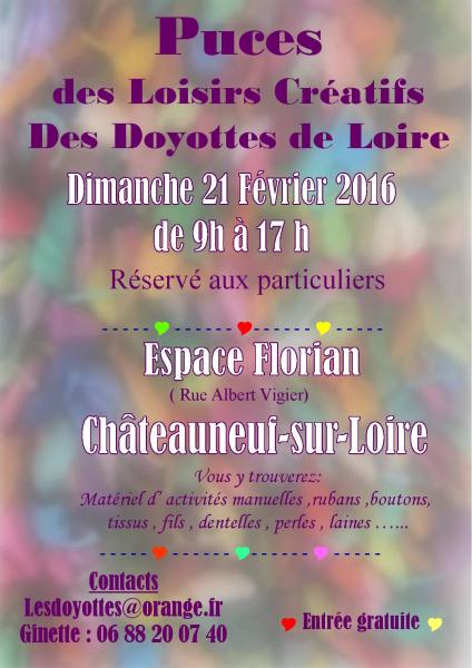 Puces des Loisirs Créatifs des Doyottes de Loire annoncé sur l'Agenda du Fil - agendadufil.fr